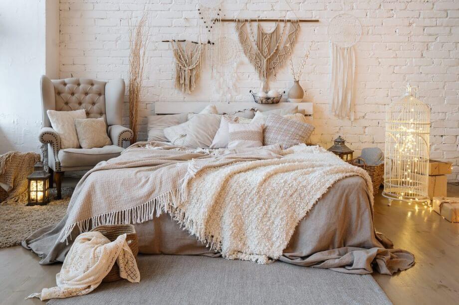 Le style bohème chic pour la chambre à coucher